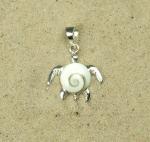 Operculum Anhänger Schildkröte an 925 Silber ca. 28 x 20 mm
