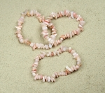 Pink Opal Chips-Armband ca. 6-12 mm / ca. 19 cm