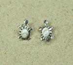 Operculum Ohrstecker Schildkröte 925 Silber ca 13x9 mm