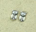 Operculum Ohrstecker Eule 925 Silber ca 13x8 mm