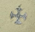 Anhänger Kreuz 925 Silber ca. 45 x 34 mm