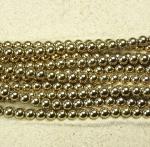 Hämatit Kugelstrang goldfarben ca. 6 mm / ca. 40 cm