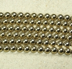 Hämatit Kugelstrang goldfarben ca. 8 mm / ca. 40 cm