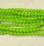 Jade hellgrün Kugelstrang behandelt ca. 8 mm / ca. 40 cm