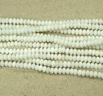 Jade weiß Buttonstrang ca. 6 mm / ca. 40 cm