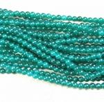 Jade grün behandelt Kugelstrang ca. 6 mm / ca. 40 cm