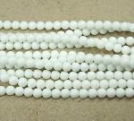Jade Kugelstrang opak weiß behandelt ca. 8 mm / ca. 40 cm