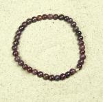 Rubin Kugelarmband ca. 5-6 mm / ca. 18 - 19 cm