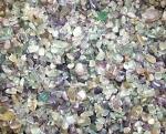 Fluorit Regenbogen - Chips ca. 1000 gr. / 4 - 13 mm