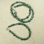 Smaragd Olivenarmband ca. 7-8 mm / ca. 20 cm