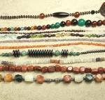 Starter Set 10 x Halsketten - im Stein und Formenmix