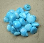 Aragonit blau Trommelsteine aus China VE= 500 gr. - farbbehandelt