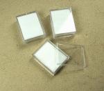 20er Plastikdosen klein 48x38x18mm mit Samteinlage