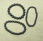 Hematit Armband auf Stretchband ca. 10 mm / ca. 18 -19 cm