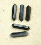 5er Set schwarzer Achat Doppelspitzen ca. 35x8 mm