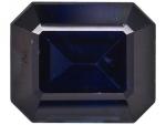 Mitternachtsblauer Saphir Baguette-Schliff facettiert  ca. 4-4,3 x 5,8-6,2 mm