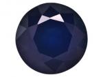 Mitternachtsblauer Saphir rund facettiert  ca. 8 mm
