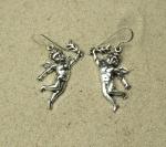 Engel / Putten Ohrhänger aus 925 Silber ca. 43 x 20 mm / ca. 9 Gramm
