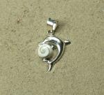 Operculum Anhänger Delphin in 925 Silber ca. 30 x 18 mm
