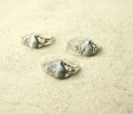 Operculum Fingerring verziert in 925 Silber