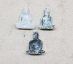 Buddha Statue aus Jade graviert ca. 45-50 mm