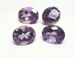 Amethyst  oval facettiert ca. 13,5 x 11,5 mm