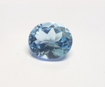 Topas Blau oval facettiert ca. 12 x 14 mm /  ca. 10 - 11 ct / st.