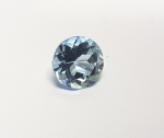 Topas Blau rund facettiert ca. 7 mm /  ca. 1,3 - 1,4 ct / st.