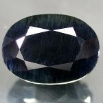 Mitternachtsblauer Saphir Oval facettiert  ca. 7 x 9 mm