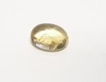 Citrin (gebr.) oval Cabochon ca. 6x8mm / ca. 1,1-1,4 ct.