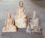 Buddha Gravur von Myanmar aus versteinertem Holz ca. 80 bis 120 mm