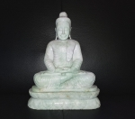 Buddha Statue aus Jade ( Jadeit ) / Burma - ca. 9,8 Kg ca. 29 x 26 cm - UNIKAT