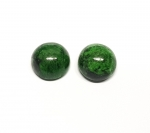Chloromelanit - Jade Cabochon aus Myanmar / Burma ca. 14-15 mm rund
