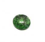 Chloromelanit - Jade Cabochon aus Myanmar / Burma ca. 14x16 mm