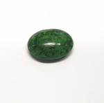 Chloromelanit - Jade Cabochon aus Myanmar / Burma ca. 16x12 mm