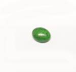 Chloromelanit - Jade Cabochon aus Myanmar / Burma ca. 12x9 mm