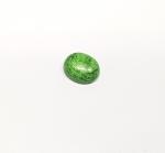 Chloromelanit - Jade Cabochon aus Myanmar / Burma ca. 11x9 mm