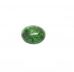 Chloromelanit - Jade Cabochon aus Myanmar / Burma ca. 17x14 mm