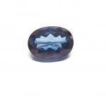 Mystischer Topas Blau bedampft ca. 18 x 13 mm /  ca. 16,55 ct