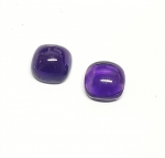 2er Set Amethyst  - Antique-Schliff Cabochon ca. 6 x 6 mm