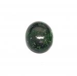 Chloromelanit - Jade Cabochon aus Myanmar / Burma ca. 23x19 mm