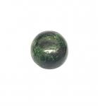 Chloromelanit - Jade Cabochon aus Myanmar / Burma ca. 21x20 mm