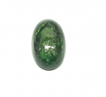 Chloromelanit - Jade Cabochon aus Myanmar / Burma ca. 26x16 mm