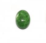 Chloromelanit - Jade Cabochon aus Myanmar / Burma ca. 23x17 mm