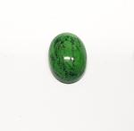 Chloromelanit - Jade Cabochon aus Myanmar / Burma ca. 21x15 mm