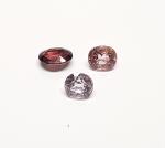 3 x Spinell aus Burma / Myanmar facettiert ca. 7 x 6 mm / ca. 4,35 ct. Gesamtgewicht