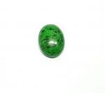 Chloromelanit - Jade Cabochon aus Myanmar / Burma ca. 19x14,5 mm