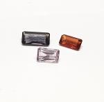 3 x Spinell aus Burma / Myanmar fRechteck acettiert ca. 3-4 x 6-8 mm / ca. 2,15 ct. Gesamtgewicht