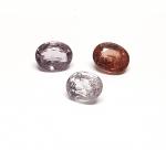 3 x Spinell aus Burma / Myanmar facettiert ca. 8 x 6 mm / ca. 4,90 ct. Gesamtgewicht