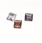 3 x Spinell aus Burma / Myanmar Quadrat facettiert ca. 5,4/ 6,1  mm / ca. 2,55 ct. Gesamtgewicht